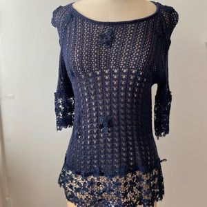 adorable crochet top INC by Macy's